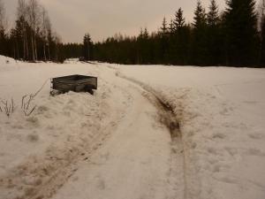 Utgrävning av bilen...